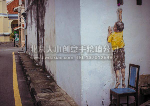 欧式人物墙绘图片