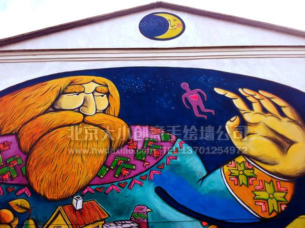 外墙手绘墙 文化墙 创意壁画 高空彩绘 墙体彩绘 墙绘壁画 北京手绘墙