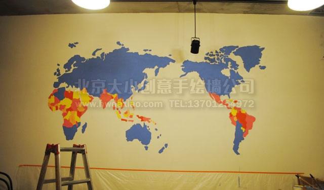 卡通地图 手绘墙 墙体彩绘