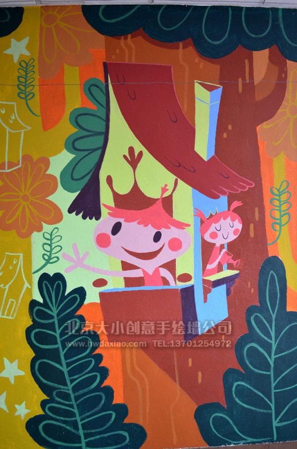 学校墙绘 幼儿园彩绘 儿童房手绘墙 墙体彩绘 手绘墙 北京墙绘公司 墙