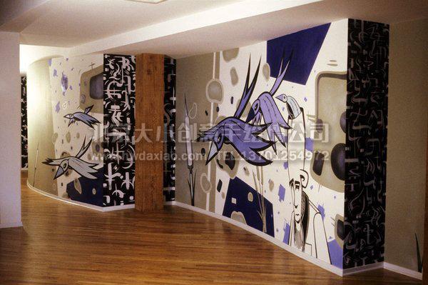 卡通墙绘 办公室墙绘 企业文化墙 创意墙绘 北京墙绘公司 手绘壁画图片