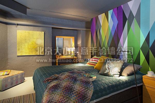 欧式公寓典雅手绘墙 墙体彩绘