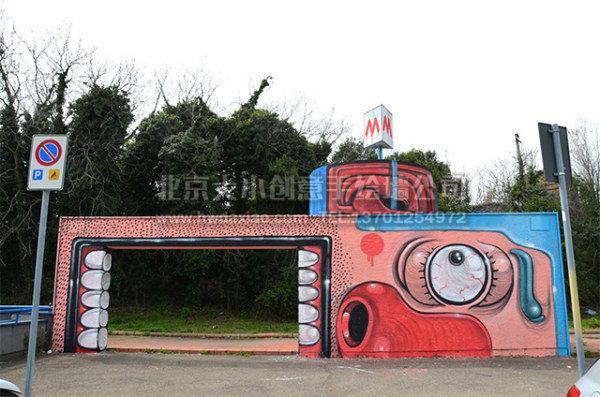 餐厅手绘墙 幼儿园墙绘 高空墙绘 外墙彩绘 卡通手绘墙 墙体彩绘 手绘