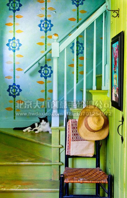 餐厅手绘墙 电视背景墙 楼梯间手绘墙 客厅手绘墙 墙体彩绘 手绘壁画