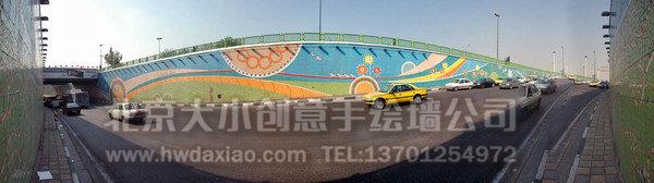 卡通墙绘 街道手绘墙 文化墙壁画