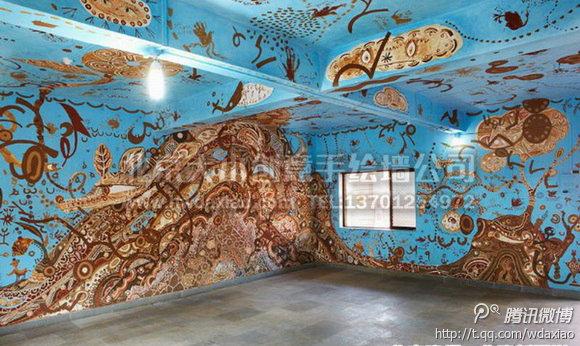 学校手绘墙 创意墙绘 民族墙绘 天顶画 北京墙绘公司 手绘墙 墙体彩绘
