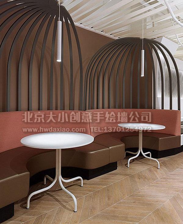 餐厅手绘墙 复古墙绘 酒吧墙绘 咖啡厅墙绘 创意墙绘 墙体彩绘 手绘