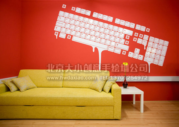 创意墙绘 办公室手绘墙 文化墙 餐厅手绘墙 手绘墙素材 北京墙绘公司