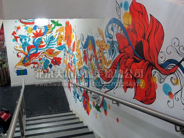 文化墙 餐厅手绘墙 楼梯间墙绘 手绘墙素材 北京墙绘公司 手绘墙 墙