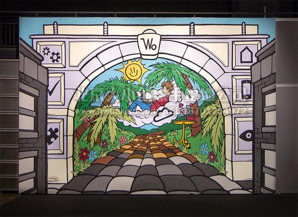 创意墙绘 办公室手绘墙 幼儿园手绘墙 文化墙 卡通墙绘 手绘墙素材