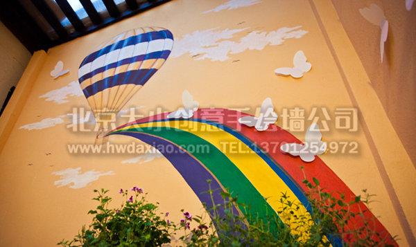 清新温暖主题餐厅手绘墙