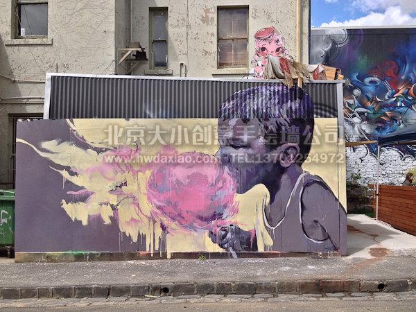 高空墙绘 创意墙绘 外墙彩绘 人物手绘 文化墙壁画 北京墙绘公司 手