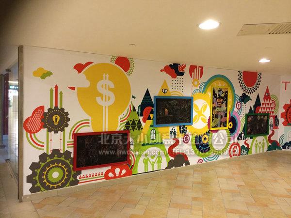 创意墙绘 外墙彩绘 卡通墙绘 幼儿园外墙彩绘 文化墙壁画 北京墙绘