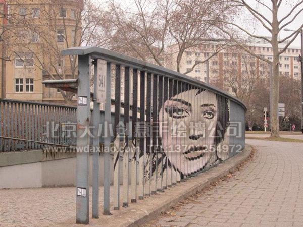 """""""神隐""""的街头涂鸦手绘墙壁画 墙体彩绘"""