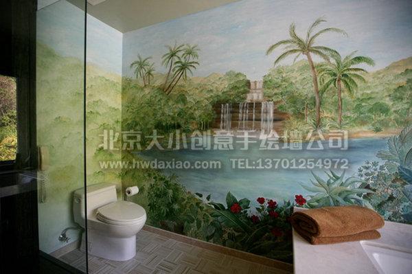 餐厅手绘墙 电视背景墙