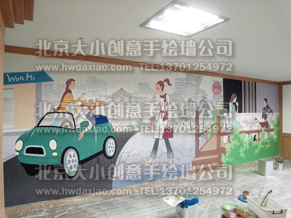 餐厅手绘墙 酒吧墙绘 咖啡厅墙绘 外墙彩绘 创意墙绘 手绘涂鸦 墙体