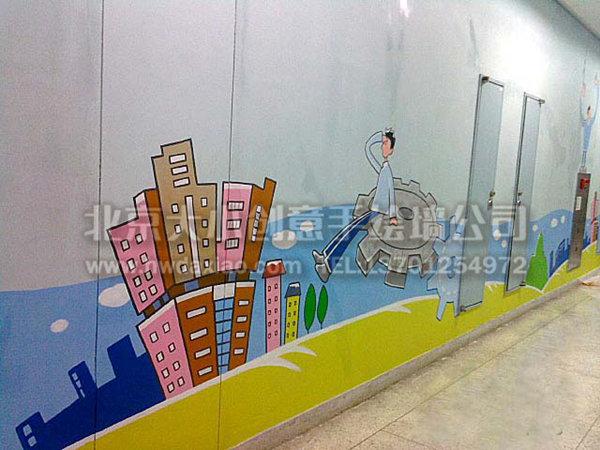 文化墙壁画 幼儿园墙绘