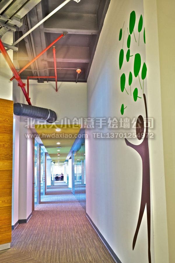 创意墙绘 办公室手绘墙 文化墙壁画 抽象彩绘 校园手绘墙 餐厅手绘墙