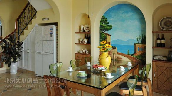 电视背景墙绘 卧室背景墙绘 客厅手绘墙 墙体彩绘 手绘壁画 墙绘价格