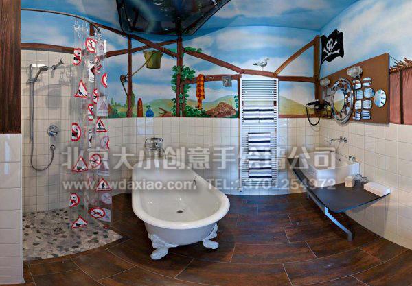 德国汽车主题酒店风景手绘墙壁画 一 墙体彩绘图片