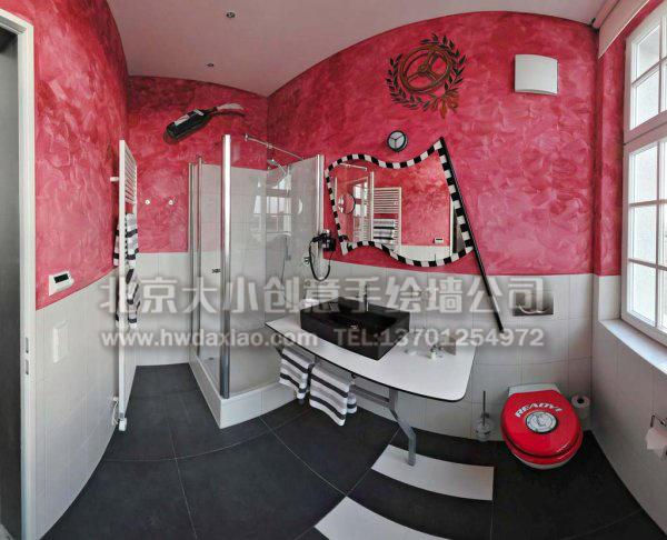 德国汽车主题酒店风景手绘墙壁画(一) 墙体彩绘