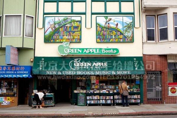 外墙彩绘 文化墙壁画 商场手绘墙 卡通彩绘 店铺壁画 手绘墙素材 北京