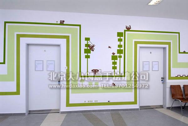创意墙绘 清新手绘 办公室手绘墙