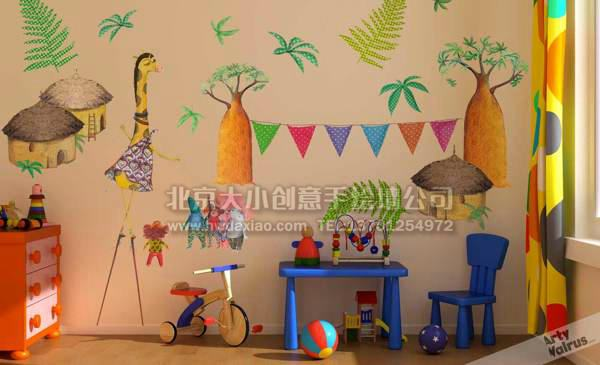 儿童房手绘墙