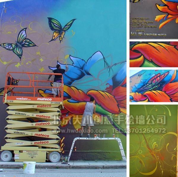 创意墙绘 办公室手绘墙 外墙彩绘 文化墙壁画 商场手绘墙 卡通彩绘