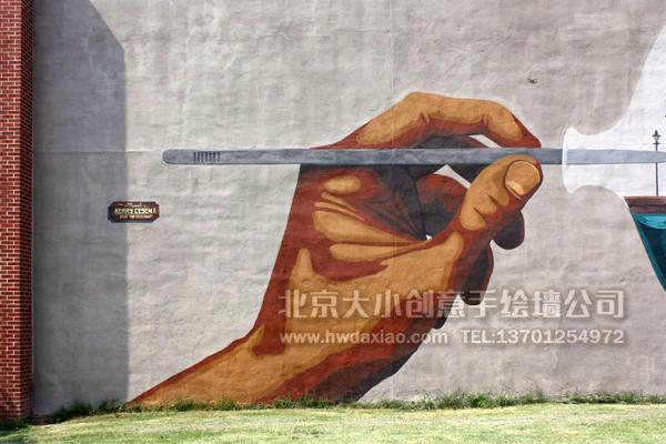 创意墙绘 办公室手绘墙 外墙彩绘 文化墙壁画 停车场彩绘 商场手绘墙