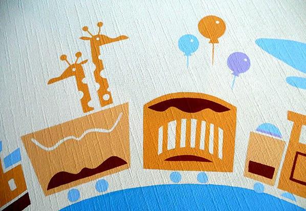 黑白涂鸦墙_可爱卡通儿童房手绘墙壁画 墙体彩绘-大小墙体彩绘公司