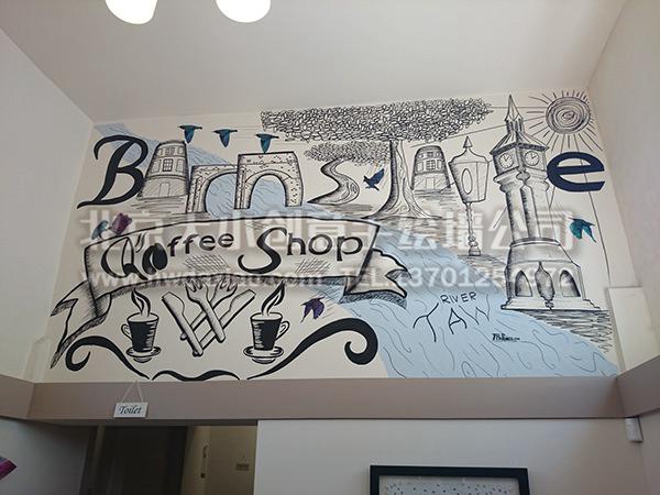 外国餐厅手绘墙壁画 墙体彩绘图片
