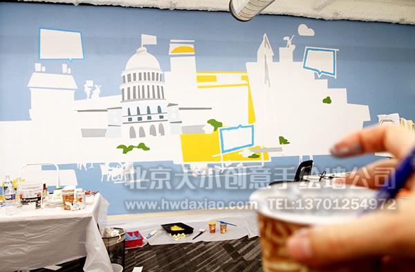 创意墙绘 办公室手绘墙 休闲壁画 校园文化墙 走廊壁画 学校手绘墙 餐