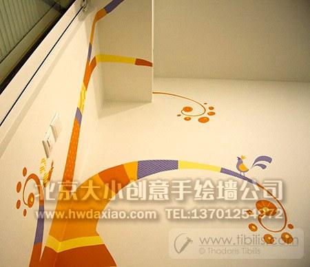 创意墙绘 婴儿房彩绘 儿童房手绘墙 卡通墙绘 幼儿园墙面彩绘 早教
