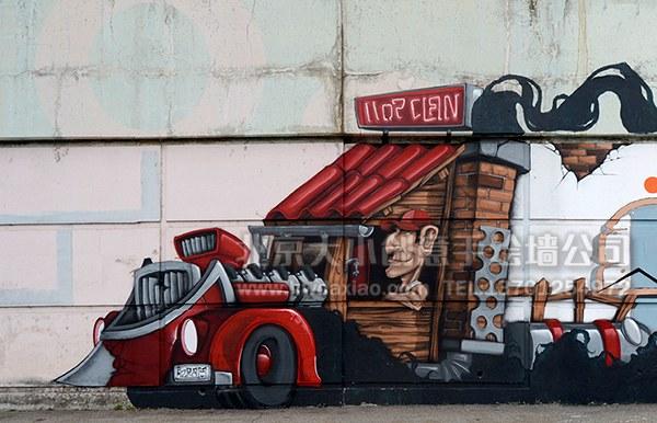 创意墙绘 办公室手绘墙 外墙彩绘 街道壁画 走廊壁画 学校手绘墙 餐厅