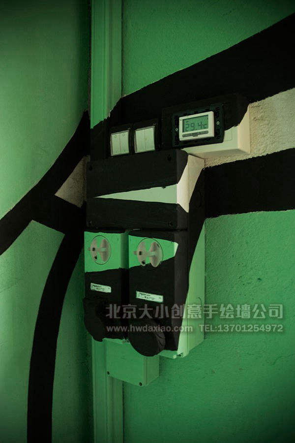 巨型章鱼厂房手绘墙壁画 墙体彩绘
