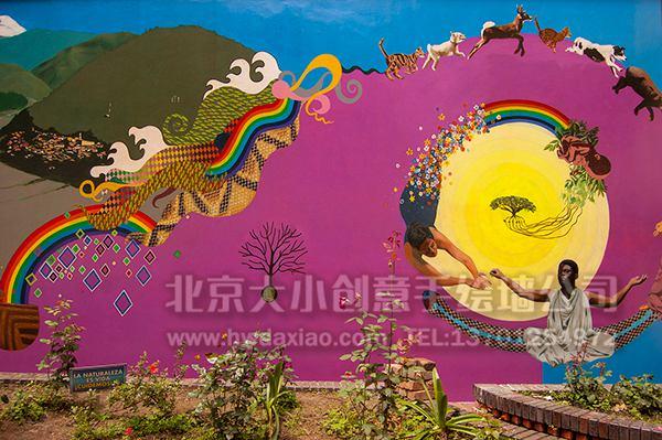 创意墙绘 办公室手绘墙 会议室墙绘 卡通壁画 校园文化墙 走廊壁画
