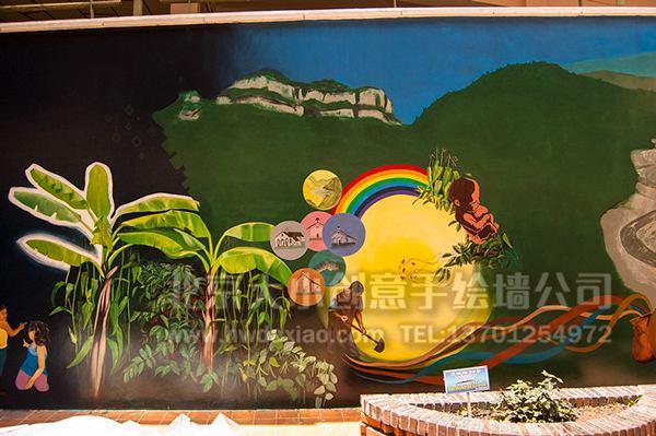 创意墙绘 办公室手绘墙 会议室墙绘 卡通壁画 校园文化墙 走廊壁画 学