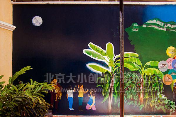 标签: 创意墙绘 办公室手绘墙 会议室墙绘 卡通壁画 校园文化墙 走廊