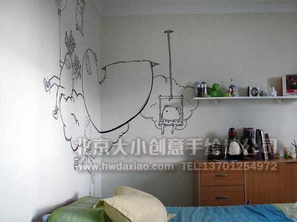 餐厅手绘墙 楼梯间墙绘 儿童房壁画 走廊壁画 电视背景墙绘 卧室手绘