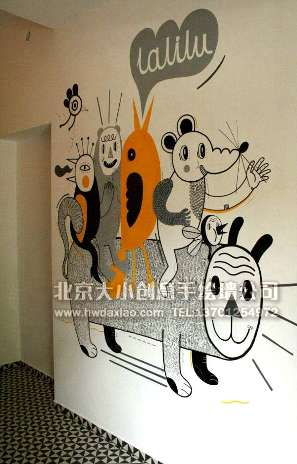 卡通彩绘 手绘墙素材