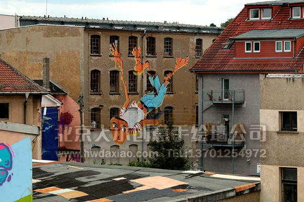 外墙彩绘 校园文化墙 走廊壁画 学校手绘墙 餐厅手绘墙 商场手绘墙 卡
