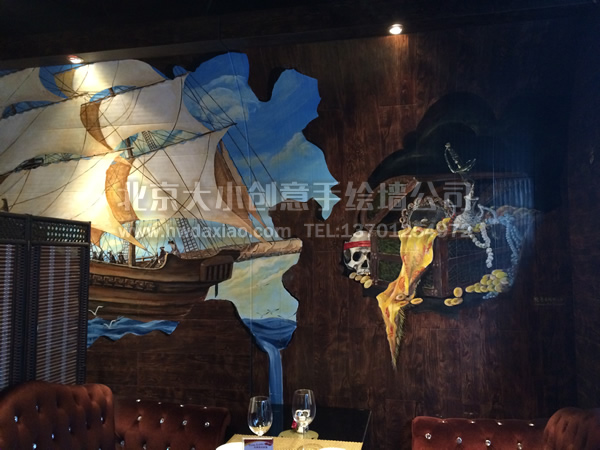 涂鸦墙绘_民族涂鸦墙绘_咖啡厅涂鸦墙绘外墙_涂鸦