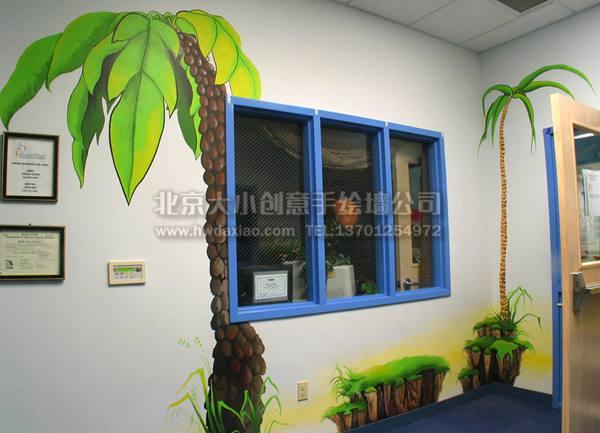 幼儿园墙绘 走廊彩绘 墙体彩绘