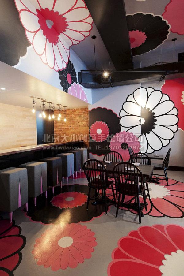餐厅手绘墙 酒店壁画 咖啡厅手绘墙 特色餐厅背景墙 酒吧背景墙 墙体