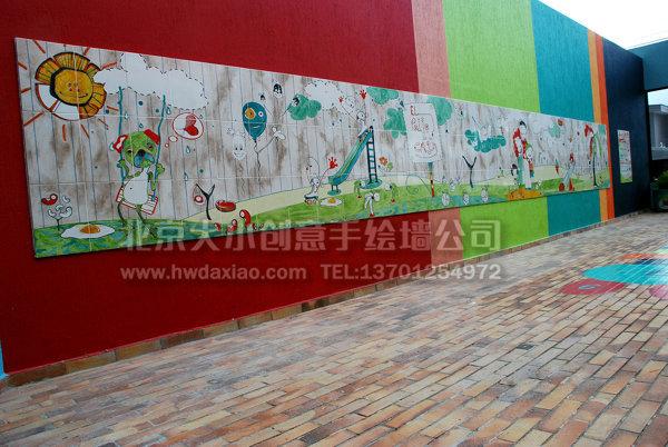 餐厅背景墙 幼儿园彩绘