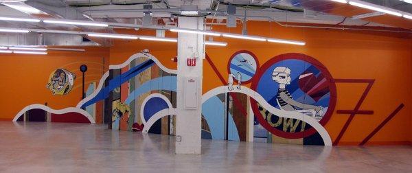 餐厅手绘墙 办公室墙绘 企业文化墙 创意墙绘 北京墙绘公司 手绘墙