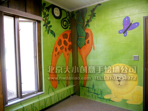 室内儿童乐园墙绘