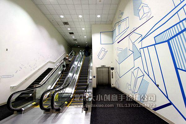 创意墙绘 办公室手绘墙 扶梯手绘墙 校园文化墙 走廊壁画 店铺彩绘