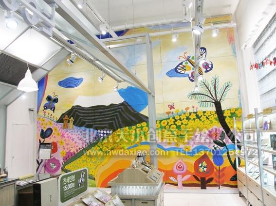 创意墙绘 办公室手绘墙